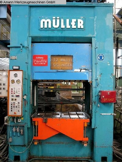 used Presses Double Column Drawing Press -Hydr. MÜLLER KEZ 315-16/6.5.1 (UVV)