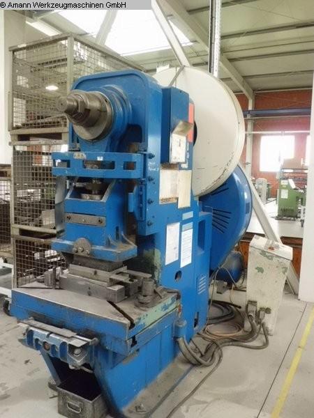 gebrauchte Pressen und Bördelmaschinen Einständerexzenterpresse MÜLLER EXP 125 R EK