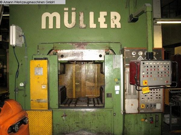 gebrauchte Pressen und Bördelmaschinen Hydraulische Presse MÜLLER-WEINGARTEN PUK 2000-10.1.2