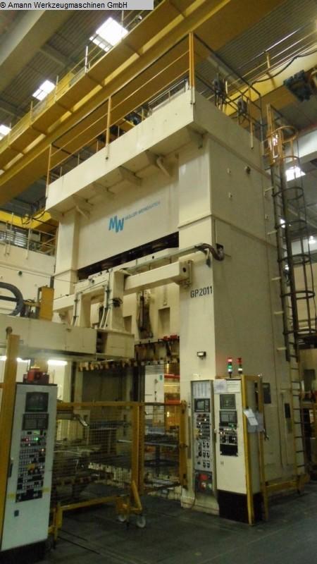 Presses utilisées Presse à double colonne Presse -Hydr. MÜLLER BZE 1600-40.7.1