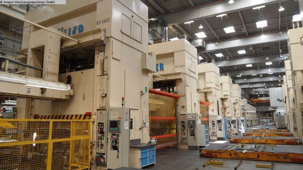 used Double Column Drawing Press -Hydr. MÜLLER ZE 1000-40.3.5