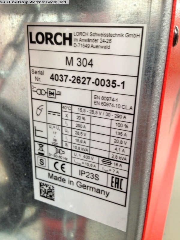 Photo 1 LORCH MIG MAG M 304 * SET *