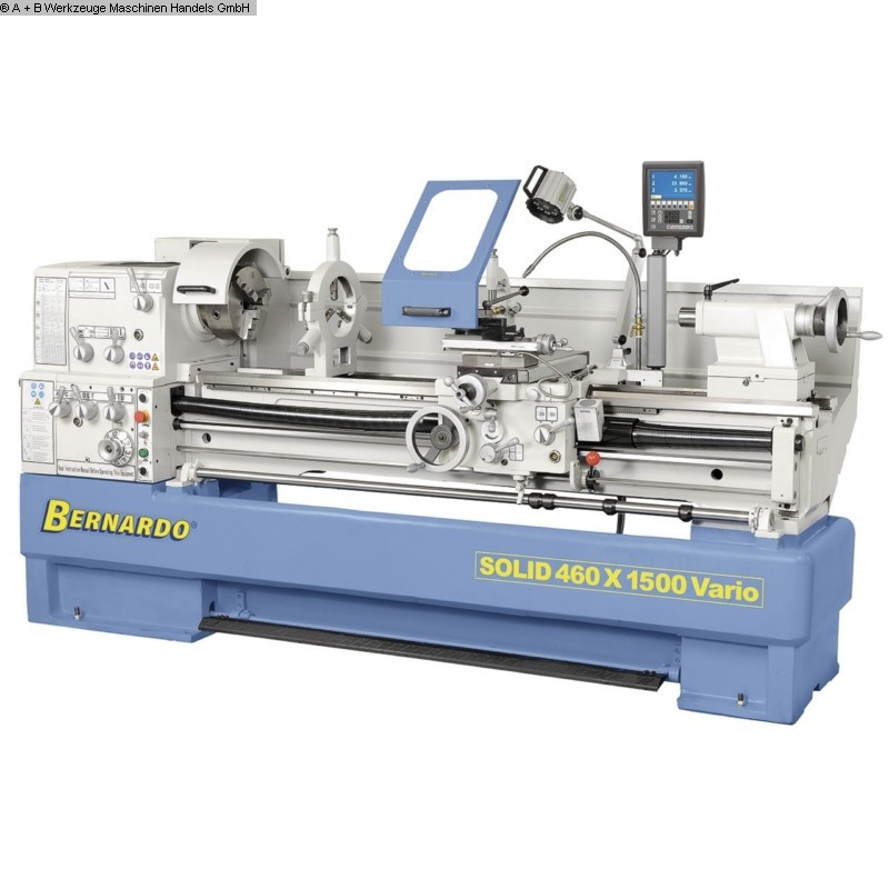used  lathe-conventional-electronic BERNARDO SOLID 460-1500 Vario Digital