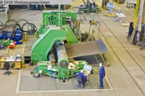 gebrauchte Blechbearbeitung / Scheren / Biegen / Richten 4-Walzen - Blechbiegemaschine SCHÄFER retrofit 2013