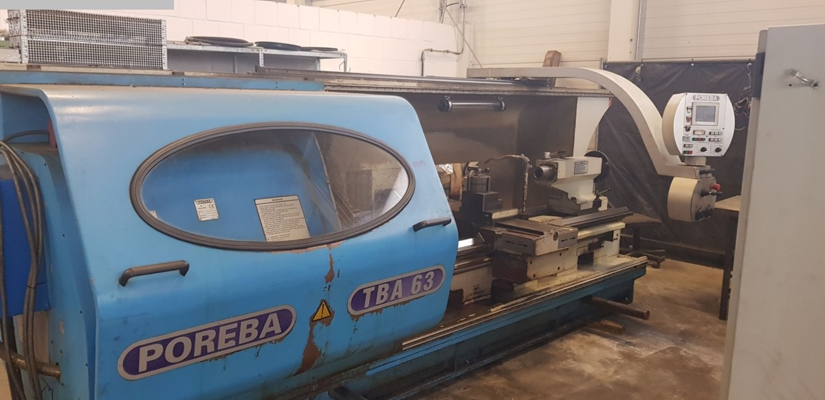 used Lathes Lathe -  cycle-controlled POREBA TBA 63