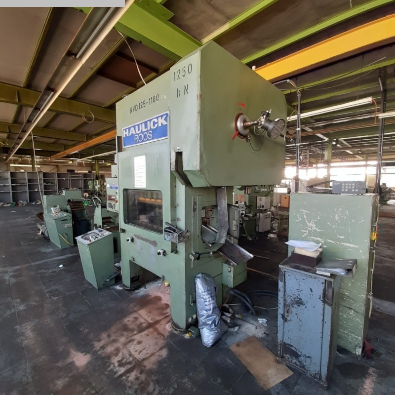 gebrauchte Pressen und Bördelmaschinen Stanzautomat-Doppelständer HAULICK + ROOS RVD 125-1180