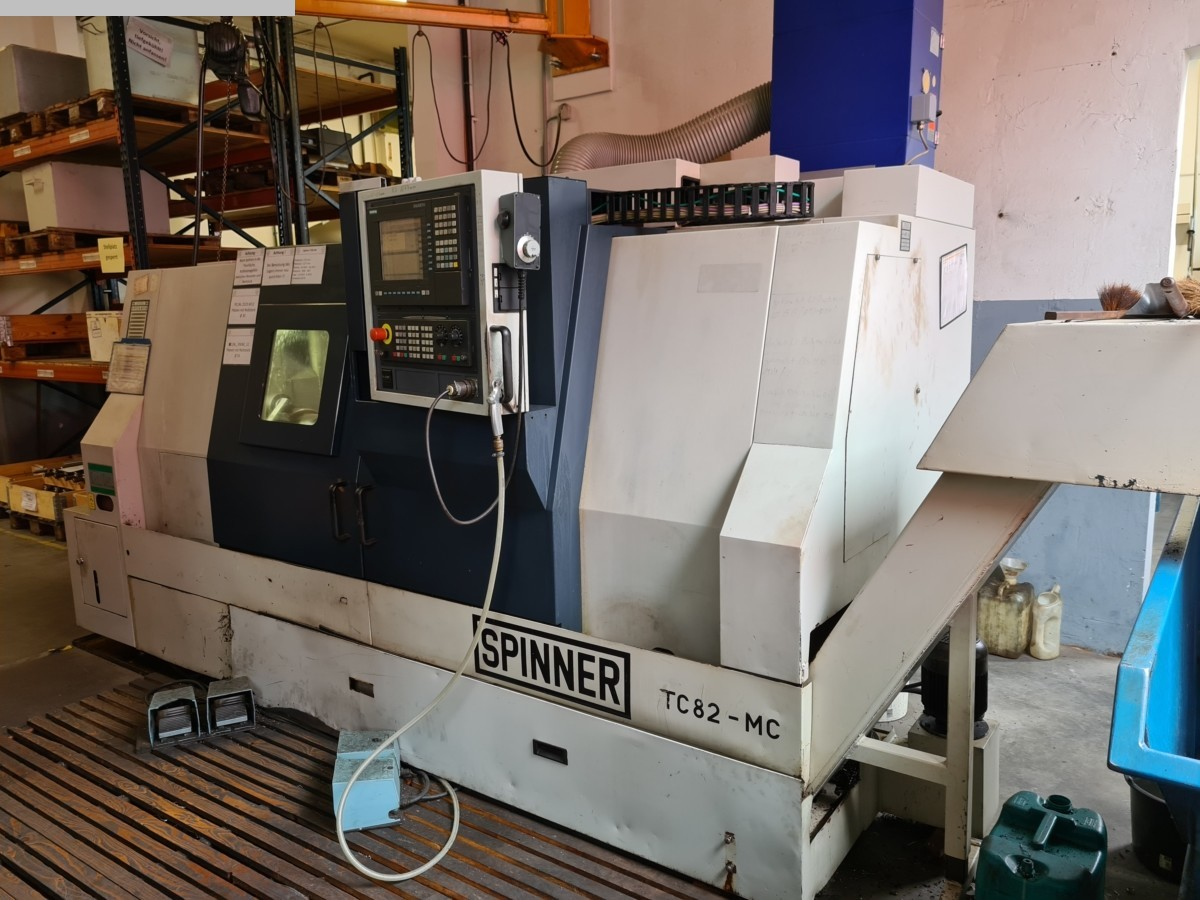 used  CNC Turning- and Milling Center SPINNER TC 82-MC