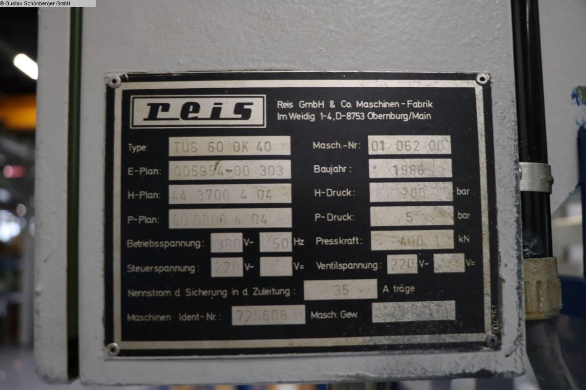 gebrauchte Tuschierpresse REIS TUS 60 OK-40