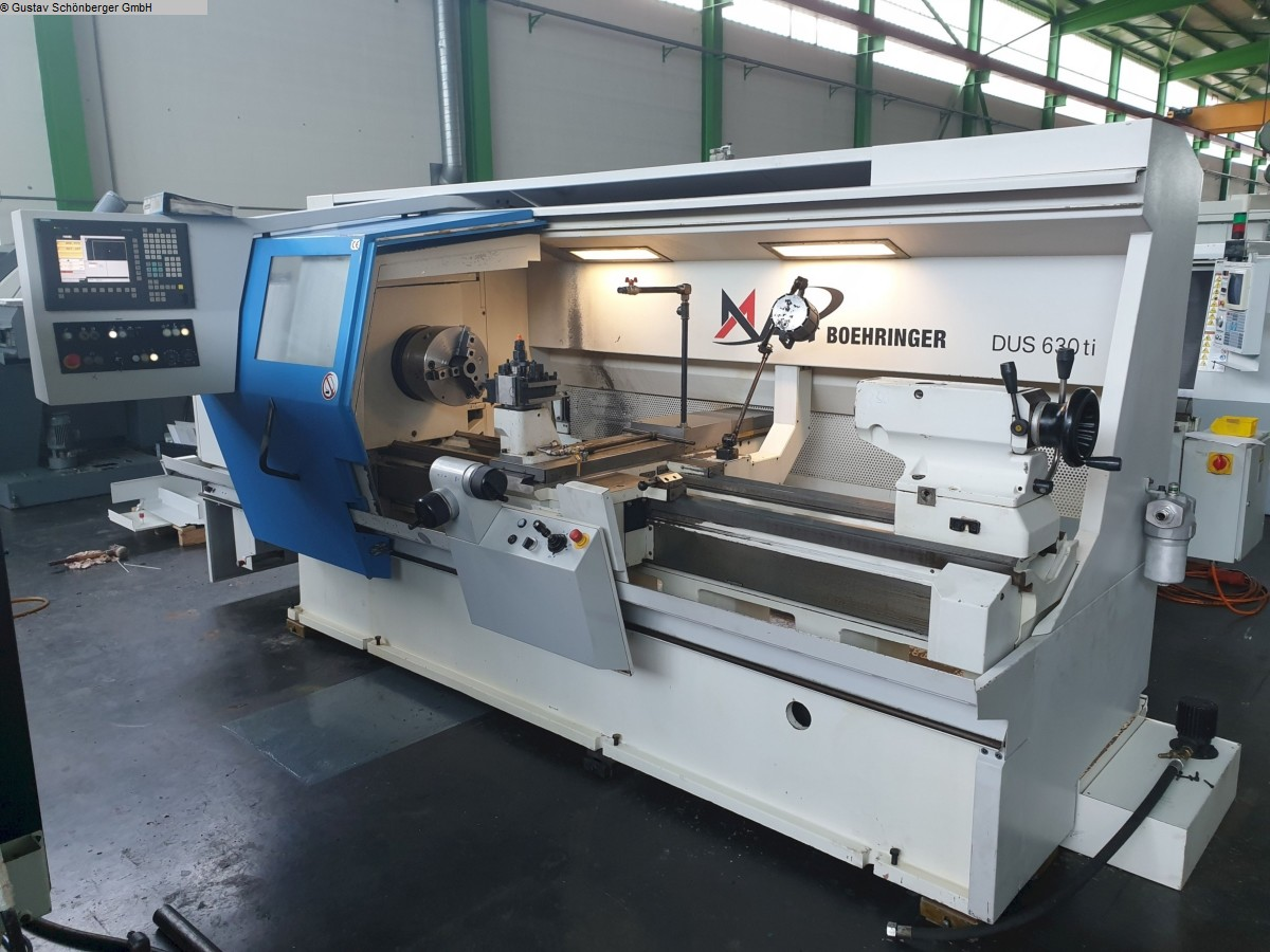 used Lathe -  cycle-controlled VDF-BOEHRINGER DUS 630ti