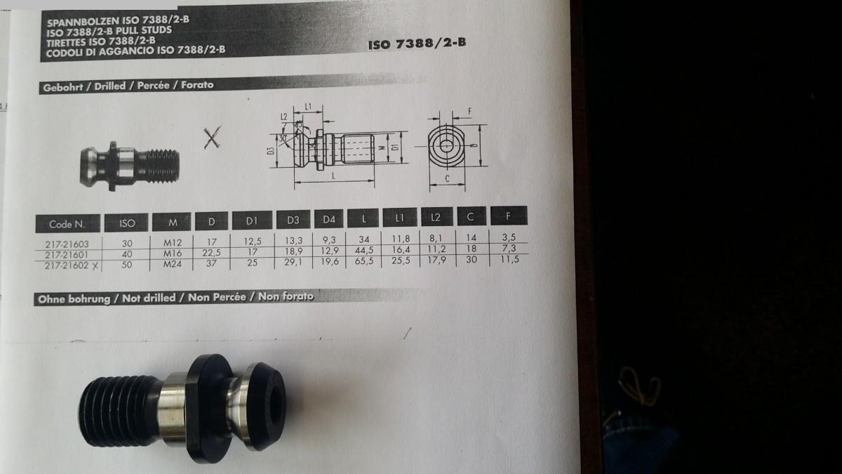 gebrauchte Anzugsbolzen Anzugsbolzen ISO 7388/2-B