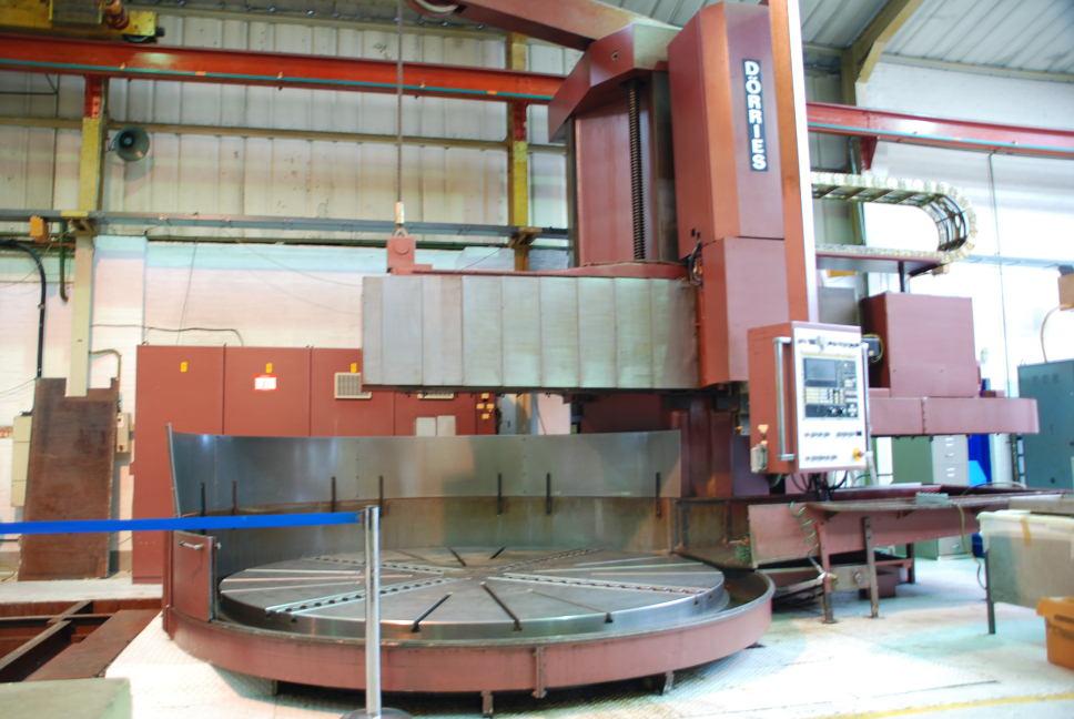 gebrauchte Metallbearbeitungsmaschinen Karusselldrehmaschine - Einständer DÖRRIES CTE 320/3400