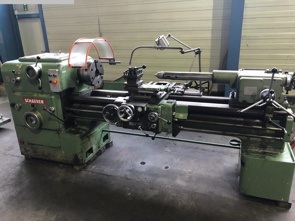 gebrauchte Metallbearbeitungsmaschinen Leit- und Zugspindeldrehmaschine SCHAERER UD 500