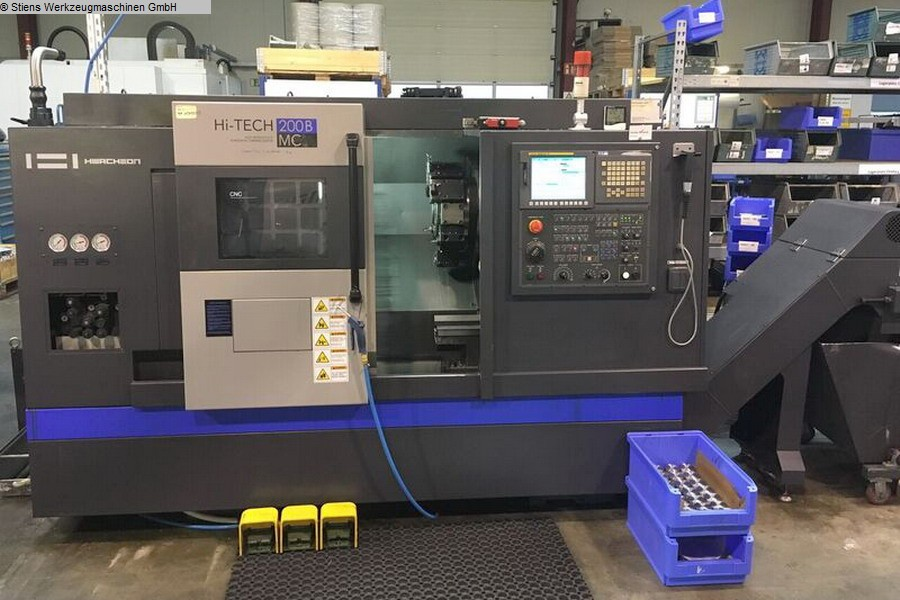 used Lathes CNC Turning- and Milling Center HWACHEON HiTECH 200 B MC