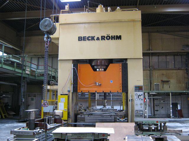 gebrauchte Pressen und Bördelmaschinen Doppelständerpresse - Hydraulisch BECK+RÖHM BHO ZP 1000