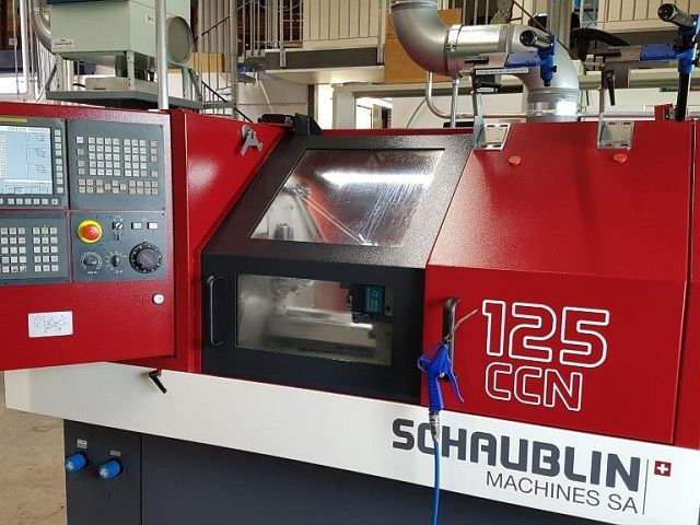 gebrauchte Drehmaschinen Drehmaschine - zyklengesteuert SCHAUBLIN 125 CCN