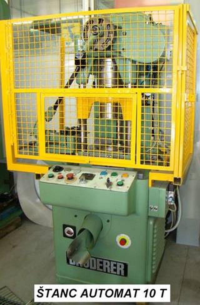 Prensa punzonadora automática BRUDERER usada