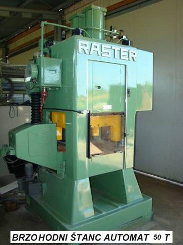 Prensa punzonadora automática usada RASTER 50 SL 4S