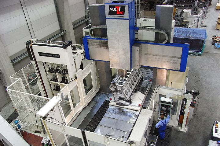 used  Planer-Type Milling M/C - Double Column WALDRICH COBURG MULTITEC 2500 AP
