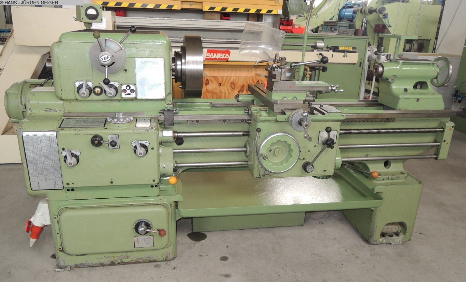 used  Center Lathe VDF BOEHRINGER 44 S