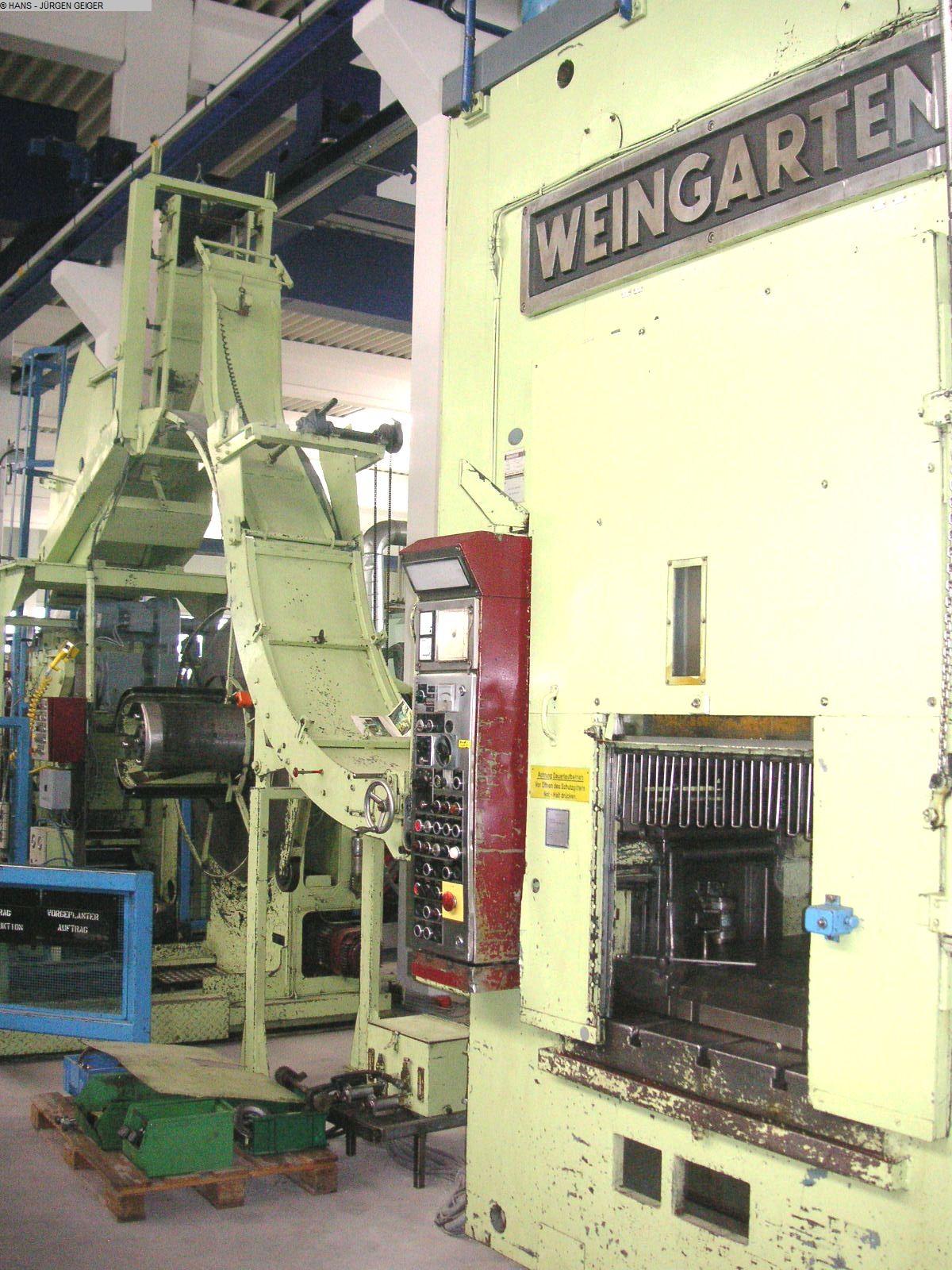 Prensa punzonadora automática usada - Doble Columna WEINGARTEN HD 160