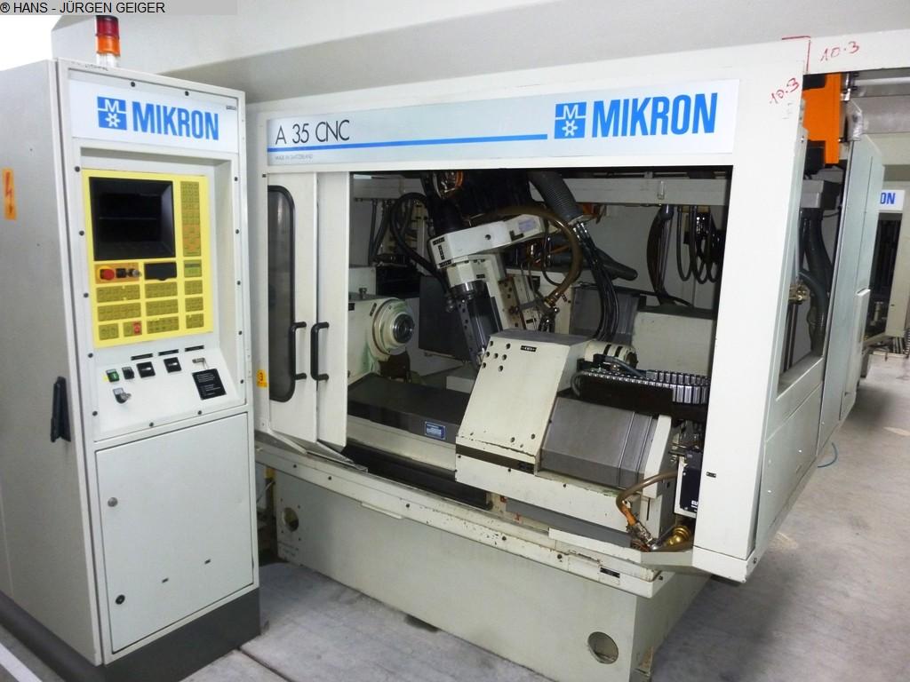 gebrauchte Verzahnungsmaschinen Zahnrad-Abwälzfräsmaschine - horizontal MIKRON A 35/36 CNC