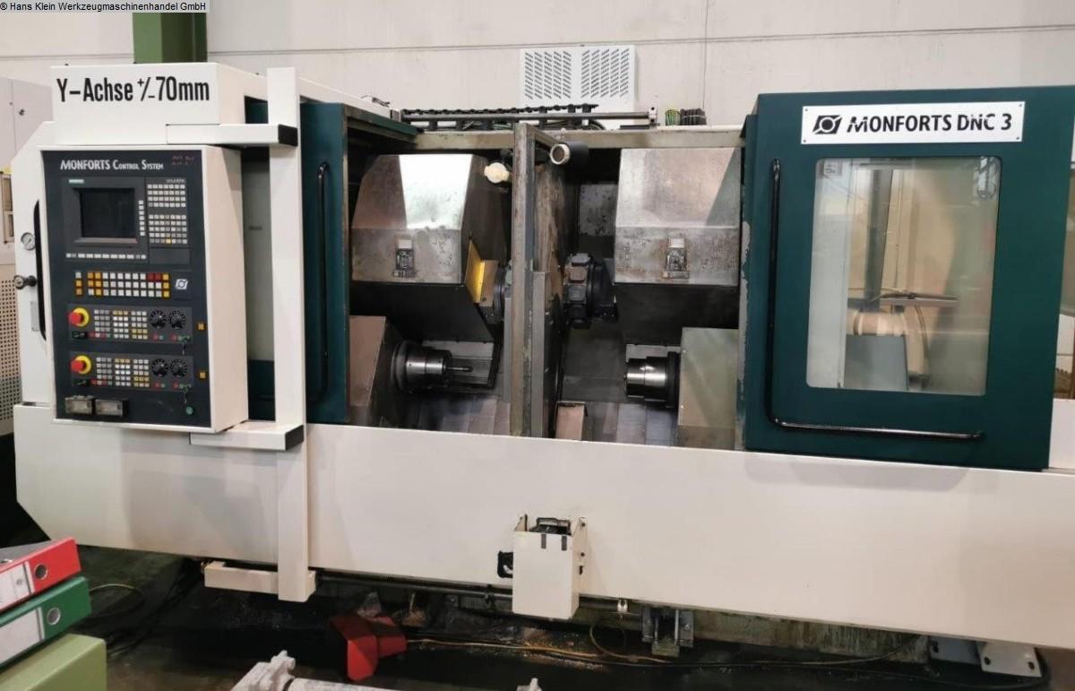 gebrauchte Metallbearbeitungsmaschinen CNC Drehmaschine MONFORTS DNC 3