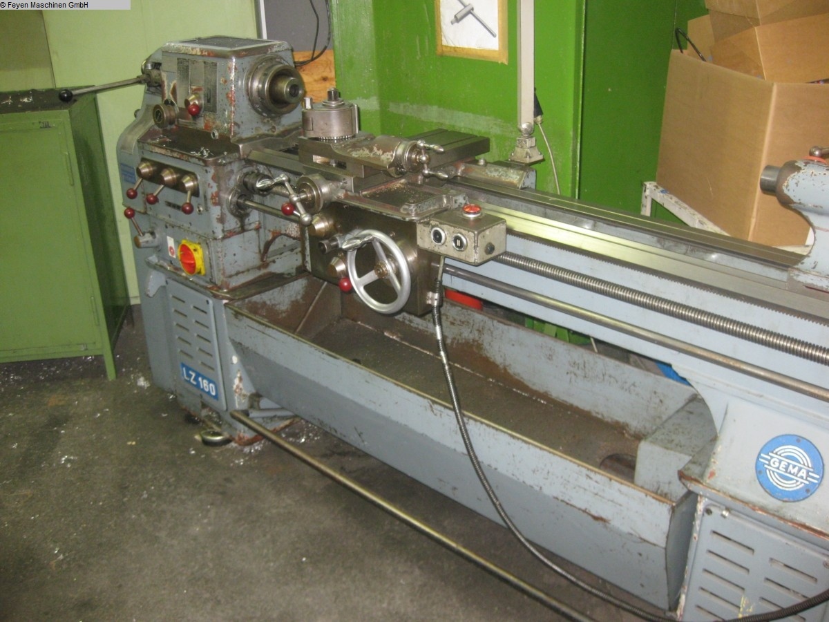 used Mechanician s Lathe GEMA LZ 160 x 1500