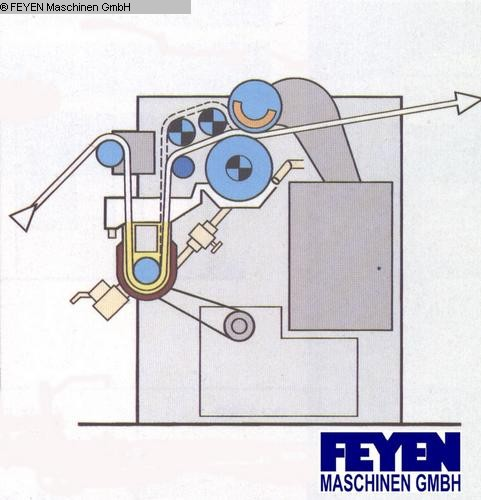 gebrauchte Foulard Appreturfoulard KUESTERS,KREFELD 222.53 / 2400