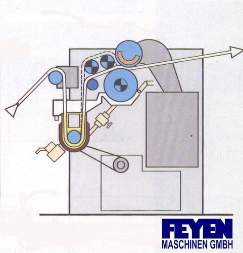 gebrauchte Foulard Appreturfoulard KUESTERS, KREFELD 222.52 / 2000