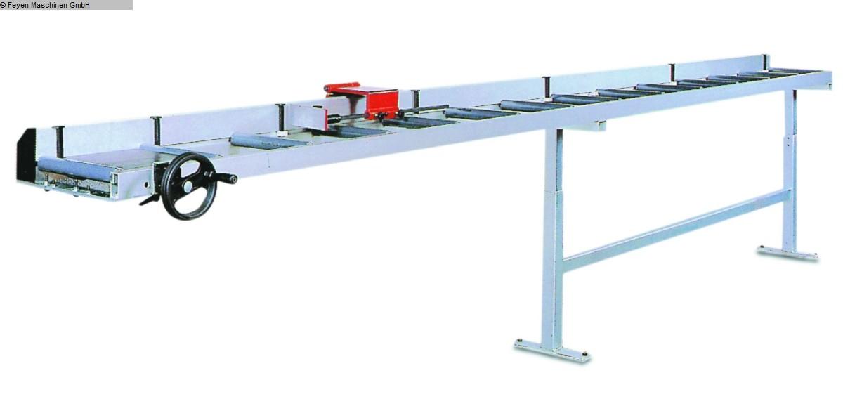 gebrauchte Fensterfertigung: Kunststoff Rollenbahn - Längenanschlag HUVEMA MG TM-3