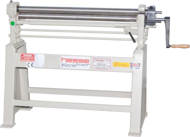 used Sheet metal working / shaeres / bending Plate Bending Machine  - 3 Rolls HESSE by ISITAN R 1270 x 68