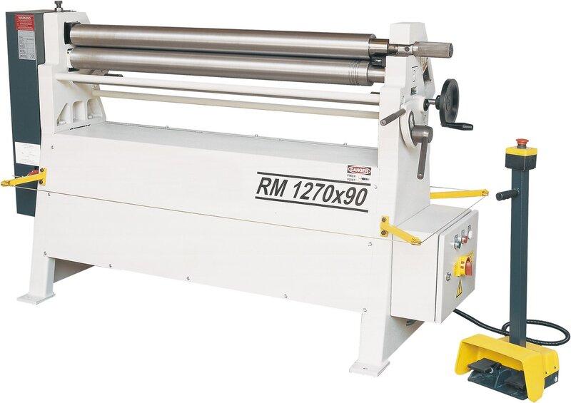 used Sheet metal working / shaeres / bending Plate Bending Machine  - 3 Rolls HESSE by ISITAN RM 1270 x 90