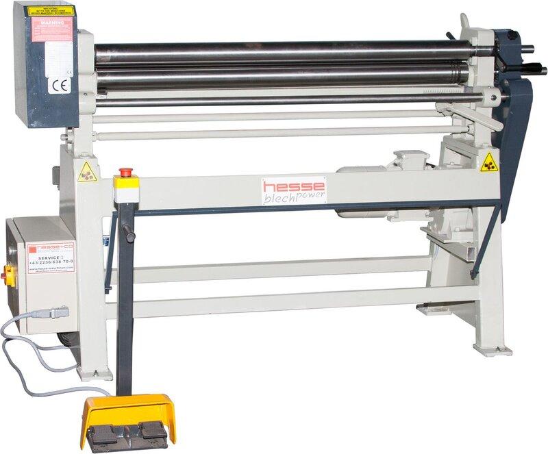 used Sheet metal working / shaeres / bending Plate Bending Machine  - 3 Rolls HESSE by ISITAN IR 1270 x 75