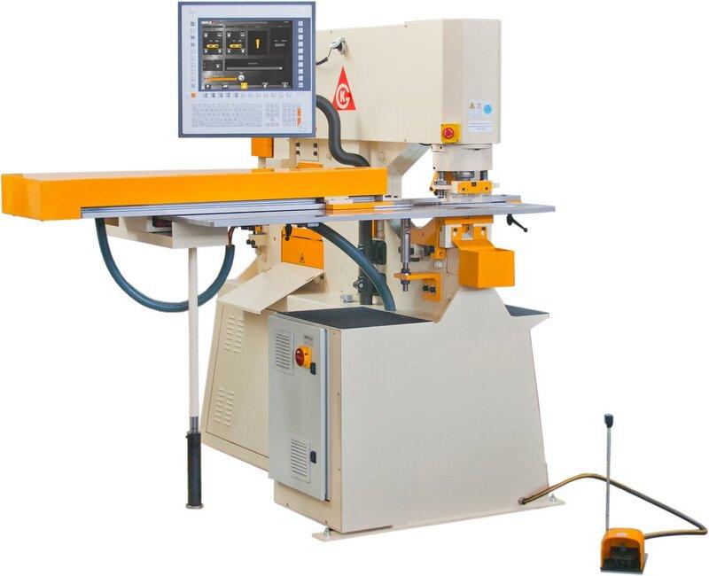 gebrauchte Blechbearbeitung / Scheren / Biegen / Richten Profilstahlschere GEKA Bendicrop 60 SD Semipaxy 1000x