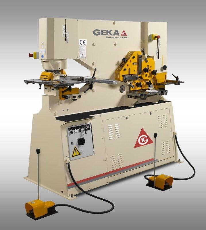gebrauchte Blechbearbeitung / Scheren / Biegen / Richten Profilstahlschere GEKA HYD 55 SD