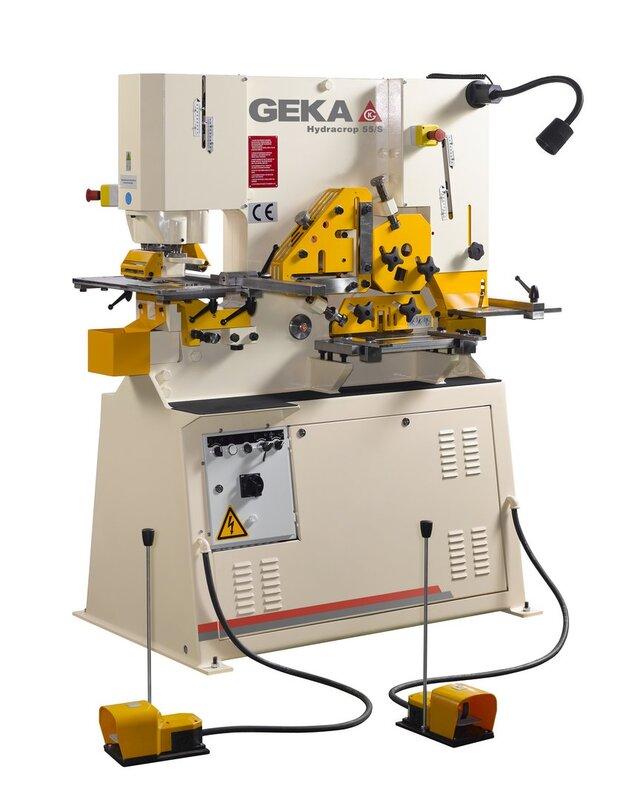 gebrauchte Blechbearbeitung / Scheren / Biegen / Richten Profilstahlschere GEKA HYD 55 S