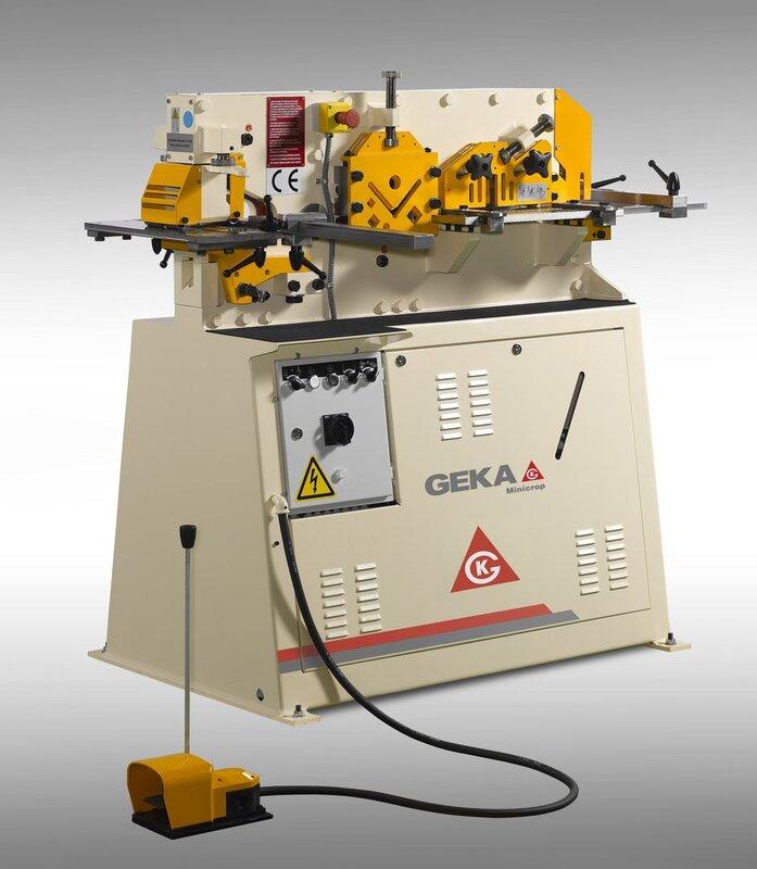 gebrauchte Blechbearbeitung / Scheren / Biegen / Richten Profilstahlschere GEKA Minicrop