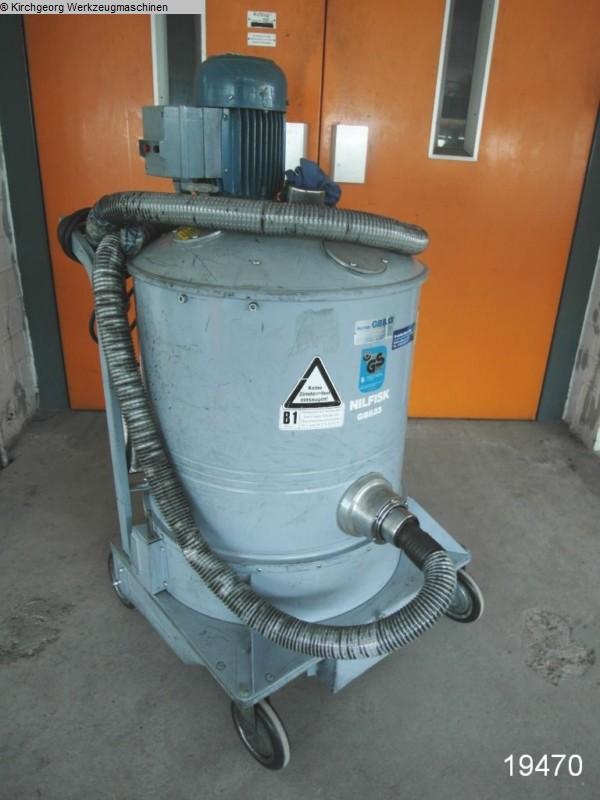 gebrauchte Entsorgung, Lufttechnik, Absaugen, Zerkleinern, Brikettieren Industriesauger NILFISK GB 833
