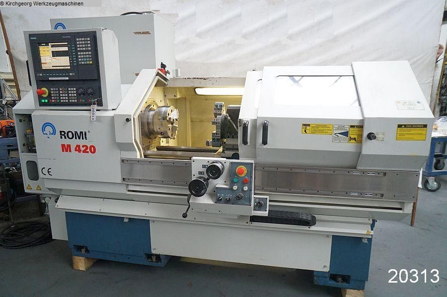 gebrauchte  Drehmaschine - zyklengesteuert ROMI M 420 x 1000 / Sinumerik 810 D