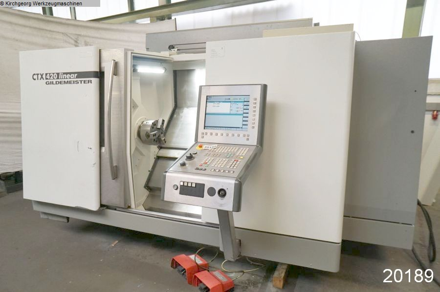 used  CNC Turning- and Milling Center GILDEMEISTER CTX 420 linear / Sinumerik 840