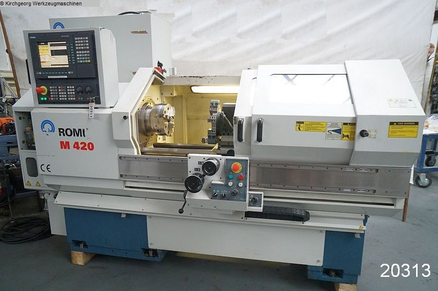 used  Lathe -  cycle-controlled ROMI M 420 x 1000 / Sinumerik 810 D