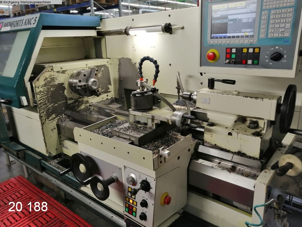 used Lathes Lathe -  cycle-controlled MONFORTS KNC 5 - 1000 / Euro-Turn