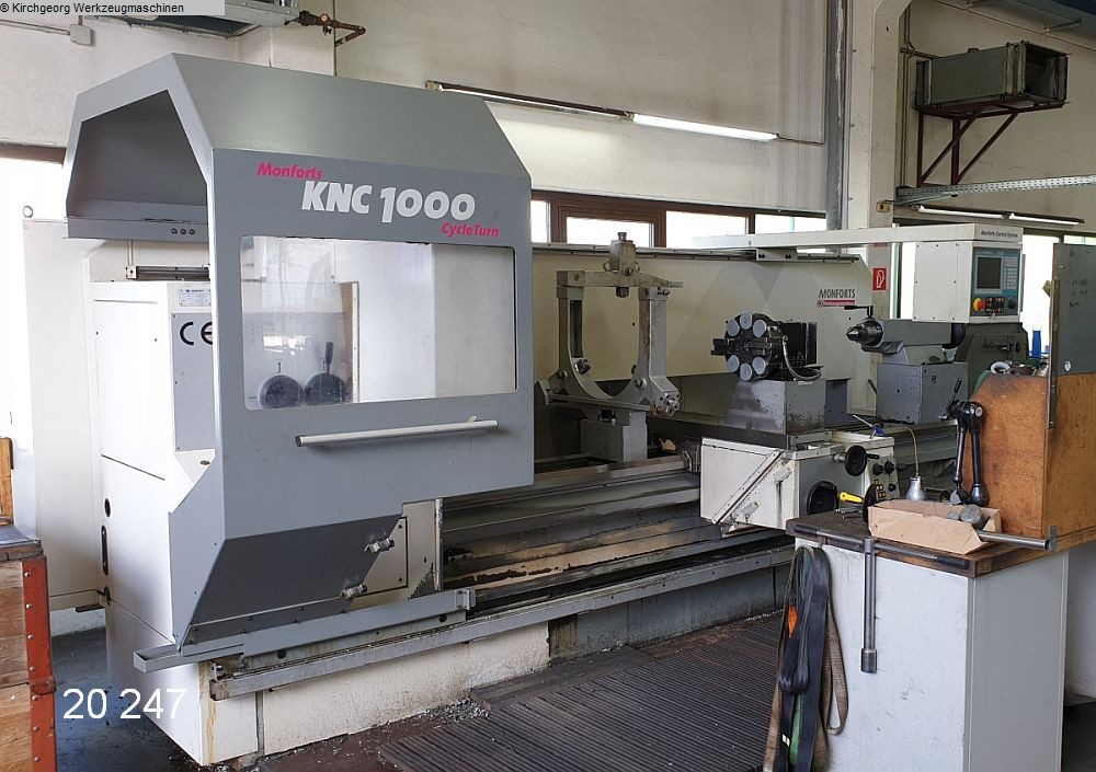 used Lathes Lathe -  cycle-controlled MONFORTS KNC 1000