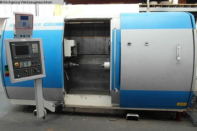 used CNC Lathe - Inclined Bed Type BOEHRINGER NG 200 / Sinumerik 840 D