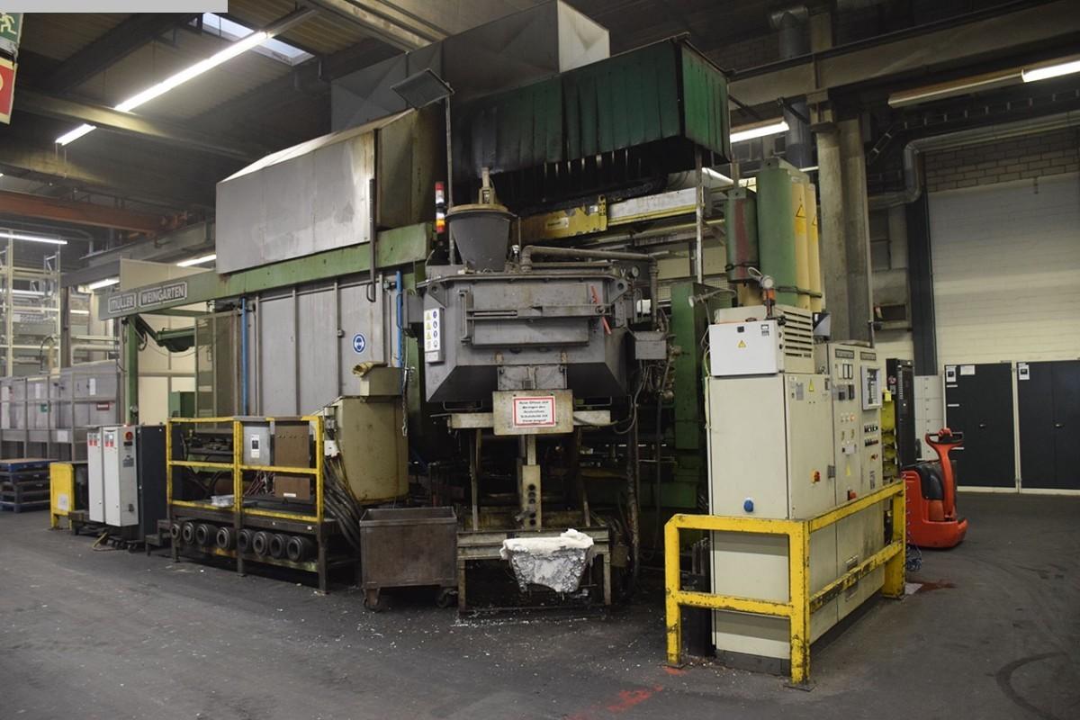 gebrauchte Druckgießmaschinen Kaltkammerdruckgußmaschine - Horizontal WEINGARTEN GDK 1000