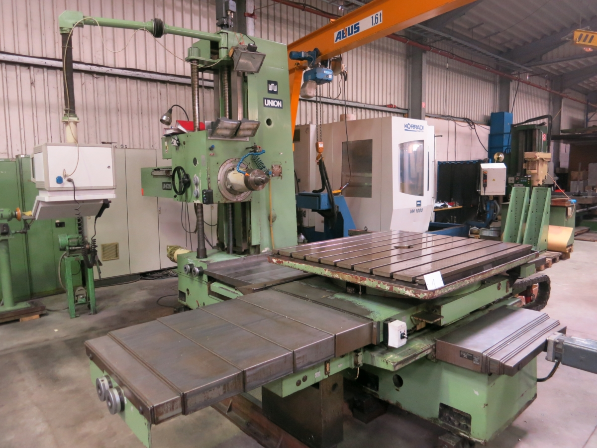used Boring mills / Machining Centers / Drilling machines Table Type Boring and Milling Machine UNION BFT 90/5