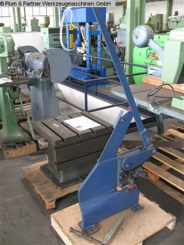 used Sheet metal working / shaeres / bending Hand-Lever Shear Fabr. UNBEKANNT/NOT KNOWN -