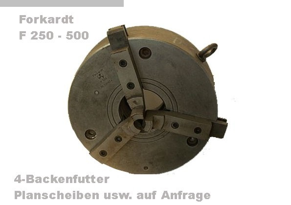 gebrauchte Maschinenzubehör etc. Futter FORKARDT F 250 -500
