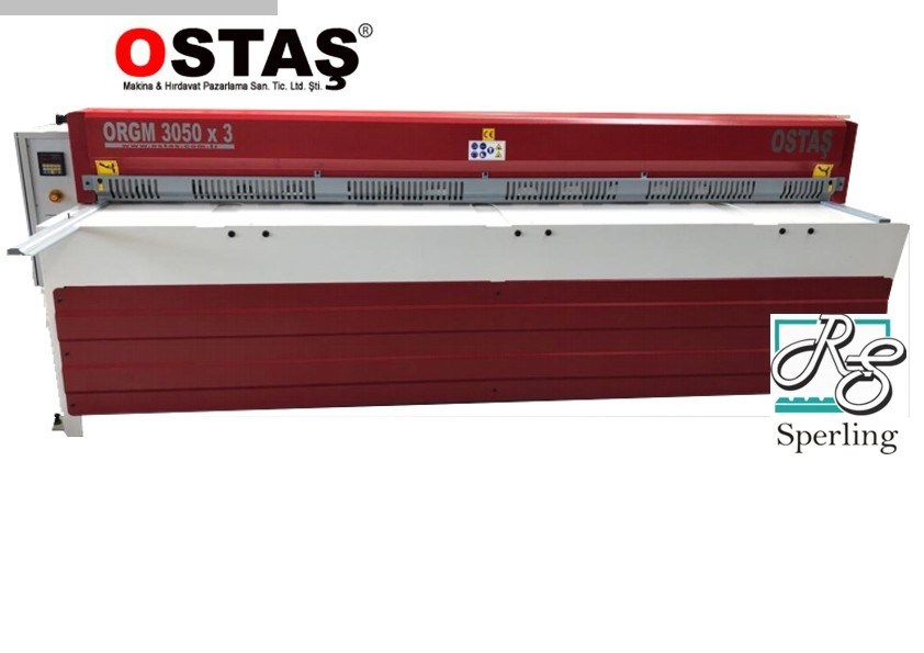 used Sheet metal working / shaeres / bending Plate Shear - Mechanical OSTAS ORGM 3050 x 3