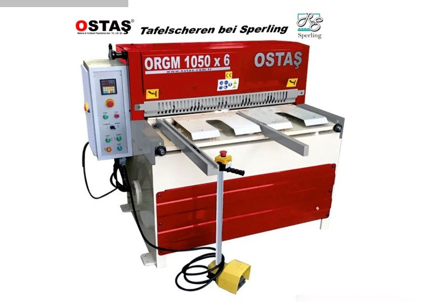 used Sheet metal working / shaeres / bending Plate Shear - Mechanical OSTAS ORGM 1350 x 6